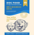 dog food label template abstract packaging vector image