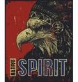 eagle in war bonnet vector image vector image