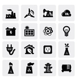 energy icon set vector image