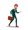 exhausted character businessman after work vector image vector image