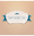 Fathers Day textile blue and white greeting Badge vector image vector image