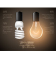 figure of luminous light bulb saving lamp vector image vector image