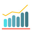 financial graph - analytics chart vector image vector image