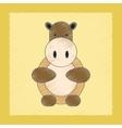 flat shading style icon Kids hippo vector image
