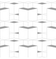 geometric abstract 3d grid seamless pattern grey vector image vector image