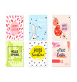 hand drawn easter cards set hand drawn easter vector image vector image