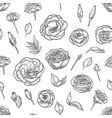 hand drawn lisianthus seamless pattern vector image
