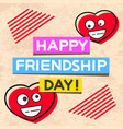 happy friendship day hand drawn lettering design vector image vector image