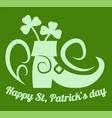 happy saint patrick day irish holiday clover vector image