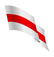 historical flag belarus and a symbol protest vector image vector image