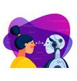 human vs artificial intelligence concept trendy vector image