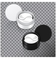 hydrogel patches for the eyes vector image vector image