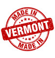 made in vermont red grunge round stamp vector image