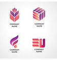 modern logo template for any industry vector image vector image
