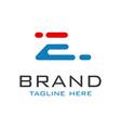 monogram logo design letter e vector image