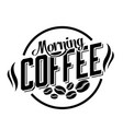 morning coffee circle white background imag vector image