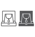 necklace in box line and glyph icon jewellery and vector image vector image