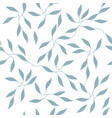 ornate small leaves on branches seamless pattern vector image