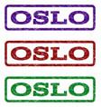 oslo watermark stamp vector image vector image