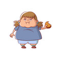 overweight little girl vector image