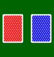 playing card back vector image