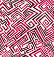 red maze seamless pattern vector image vector image