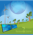 renewable energy concept vector image vector image