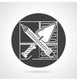 Repair black round icon vector image vector image