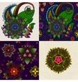 set hand drawn mandala and seamless vector image vector image