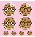 Smart cookie cartoon vector image