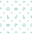 smiling icons pattern seamless white background vector image vector image