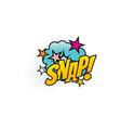 snap cartoon comic book sound blast explosion vector image vector image
