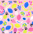 summer fruit seamless pattern blue white vector image vector image