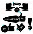 Super Sale paper banner Sale background Big sale vector image vector image