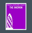 the gherkin london uk monument landmark brochure vector image