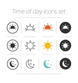Time of the day simple icons set vector image vector image