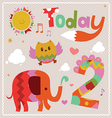 Today is 2 Holiday card vector image