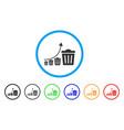 trash growing trend icon vector image vector image