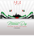 uae independence day vector image vector image