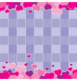 valentine purple background design vector image vector image