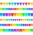 Vivid colors rainbow flags garlands set isolated vector image vector image