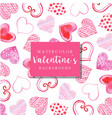 watercolor valentine background vector image vector image