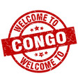welcome to congo red stamp vector image vector image