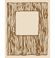 wood texture photo frame vector image vector image