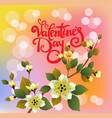 valentines day party poster design vector image