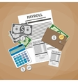 payroll invoice concept vector image