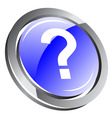 3d question icon vector image vector image