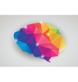 abstract geometric human brain triangles vector image vector image
