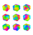abstract rainbow glossy multicolored formless vector image vector image