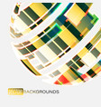 abstract round colors on a gray scene vector image vector image